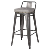 Metropolis Low Back Counter Stool, Vintage Mist Gray/9300032-239