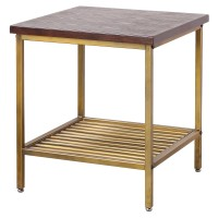 Walter KD End Table, Dark Brown/9300038