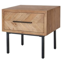 Belfast KD End Table 1 Drawer, Harbour Brown/1120006