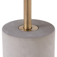 Andrea KD End Table Glass Top with Concrete Base, Mirror/ Brushed Gold/1150002