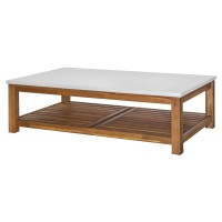 Toledo KD Coffee Table with White Concrete Top, Amber/8000033