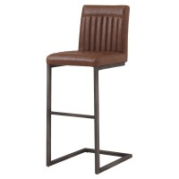 Ronan KD PU Bar Stool, Antique Cigar Brown/1060009-215