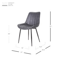 Bastian KD Fabric Chair, Lustrous Black/9700021-261