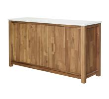 Toledo Sideboard with White Concrete Top, Amber/8000034