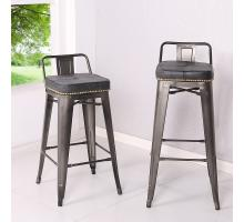 Metropolis Low Back Counter Stool, Vintage Mist Black/9300032-240