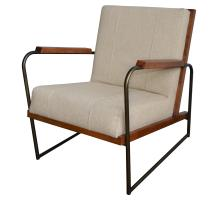 Damian Fabric Accent Chair, Cardiff Tan/9900015-299