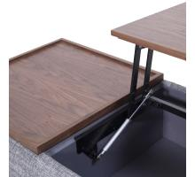 Rydel KD Lift-Top Rectangular Coffee Table w/ Storage, Ash Gray/Walnut/1030010