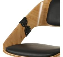 Stuart KD PU Bamboo Swivel Office Chair, Black/Natural/1160008-292N
