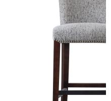 Bentley Fabric Nailhead Counter Stool, Drizzle Gray/1900106-328