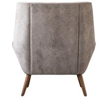 Oxford KD Fabric Tufted Accent Chair, Tweed Gray/1900110-336