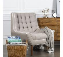 Oxford KD Fabric Tufted Accent Chair, Putty/1900111-48