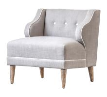 Rochelle KD Fabric Chair, Putty/1900115-48