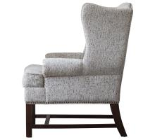 Ellery Fabric Nailhead Accent Chair, Drizzle Gray/1900117-328