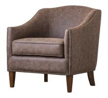 Baxton KD PU Nailhead Chair, Kalahari Brown/1900119-267