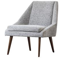Enzo KD Fabric Accent Chair, Drizzle Gray/1900120-328