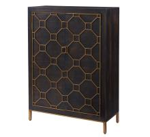 Fairmont Bar Cabinet Antique Gold Legs, Rustic Brown/2100043