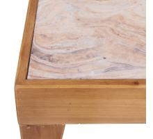 Wayne KD Faux Marble End Table, Tawny Brown***CLOSEOUT***/2100049