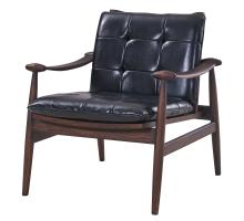 Harvey Bonded Leather Tufted Arm Chair, Black/4100011-23