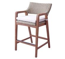 Shiloh Rattan Counter Stool, Greige Gray/7400017