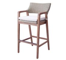 Shiloh Rattan Bar Stool, Greige Gray/7400018
