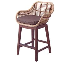 Kalia KD Rattan Bar Stool, Natural Brown/7400023