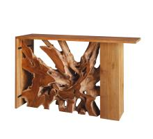Lennox Teak Wood Console Table, Natural/9600023