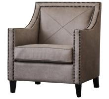 David KD PU Nailhead Arm Chair, Devore Gray/9900031-278
