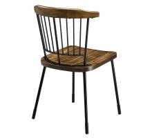 Greco KD Dining Chair Frosted Black Legs, Walnut/9300043