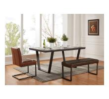 Kolman KD Faux Concrete Dining Table, Cement/1060001