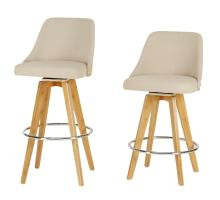 Nala KD Fabric Bamboo Swivel Counter Stool, Stokes Linen/Natural/1160013-286N
