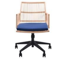 Virza KD Rattan Office Chair, Deep Blue***CLOSEOUT***/1080001