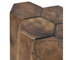 Gannon 6 Logs Side Table, Natural/7600005