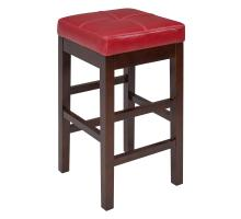 Valencia Backless Leather Counter Stool, Red/108627-67