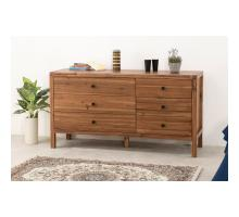 Sorrento Dresser 6 Drawers, Newton Brown/8000041