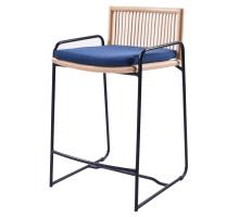 Virza Rattan Counter Stool, Deep Blue/1080002