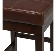 Valencia Backless Leather Counter Stool, Cognac/108627-33