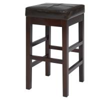 Valencia Backless Leather Counter Stool, Brown/108627-01
