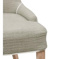 Charlotte Fabric Chair Brushed Smoke Legs, Putty/108237-48-BS