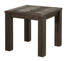 Wellington KD Herringbone End Table, Thames Dark Brown/1220002