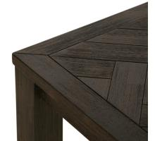 Wellington KD Herringbone Coffee Table, Thames Dark Brown *NEW*/1220003