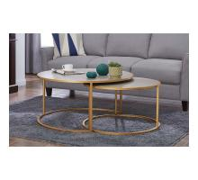 Anza Faux Shagreen Nesting Coffee Table Set of 2, Chronicle Gray *NEW*/1600043