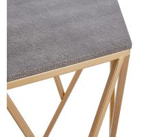 Cressa Faux Shagreen End Table, Chronicle Gray/1600045