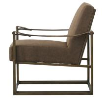 Esmond  PU Arm Chair, Nubuck Chocolate *NEW*/3900049-NCE
