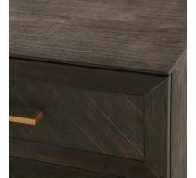 Wellington Herringbone Dresser 6 Drawers, Thames Dark Brown *NEW*/1220007