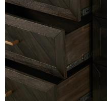 Wellington Herringbone Dresser 6 Drawers, Thames Dark Brown/1220007