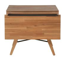 Dartford KD Night Stand/Side Table 1 Drawer, Acorn Brown/1220011