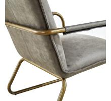 Denver Fabric KD Arm Chair Brushed Gold Legs, Rusted Gray *NEW*/1230001-370