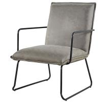 Tucson Fabric KD Arm Chair, Rusted Gray *NEW*/1230002-370