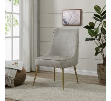 Cedric KD Fabric Chair Gold Legs, Pearl Gray *NEW*/1250005-366