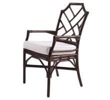 Kara Rattan Arm Chair, Paloma Brown *NEW*/2400028-PB